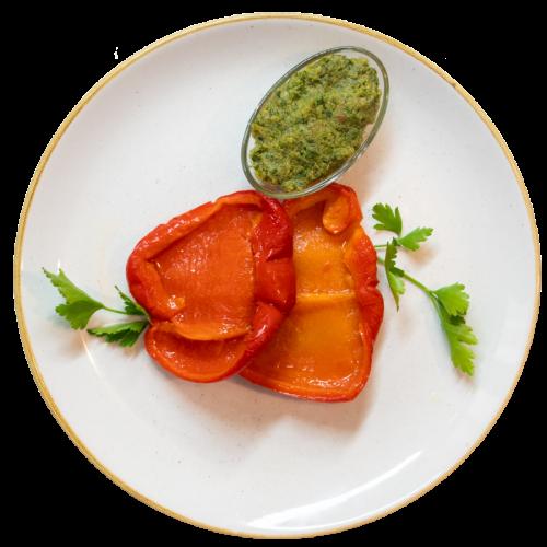 Peperoni arrostiti con bagnetto verde