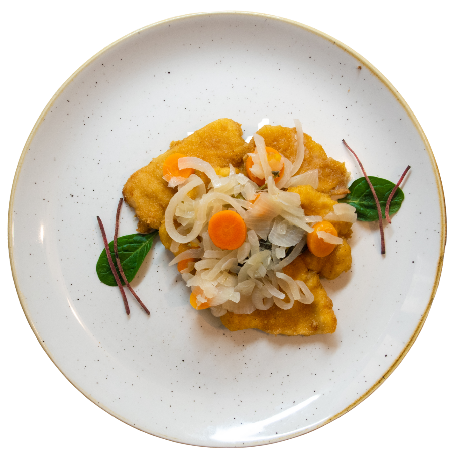 Bocconcini di pollo in carpione del Ristorante Campanarò di Asti