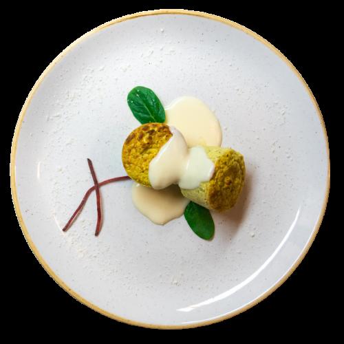 Flan di broccoli con fonduta del ristorante Camapanarò di Asti